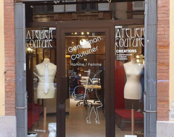 Vitrine atelier couture Gentleman Couturier