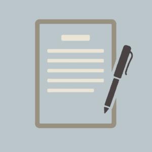Icône contrat et stylo