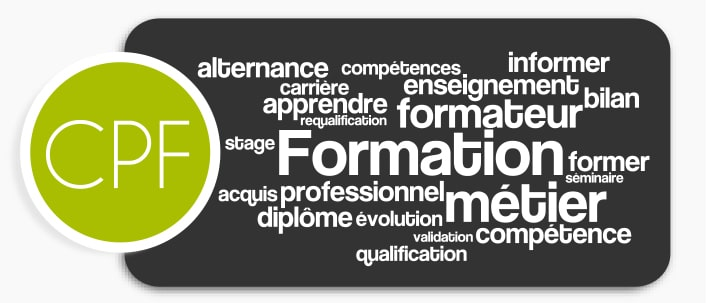 Graphisme mots CPF formation